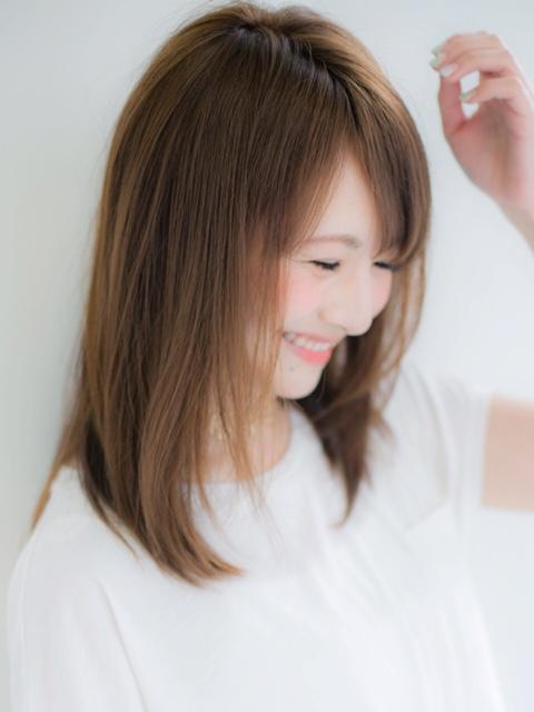 【Euphoria】大人可愛いふんわりストレート☆小顔効果有