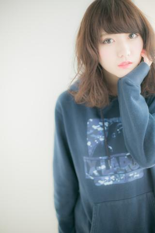 【Euphoria】軽ふわカール×重ため前髪☆重軽バランスウォブ
