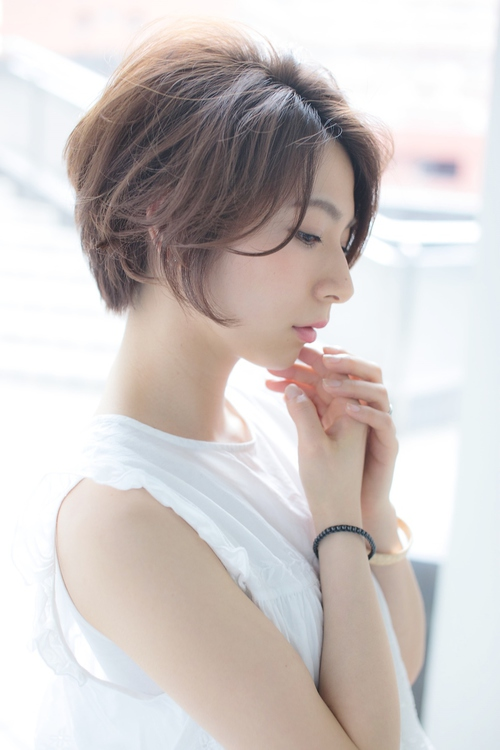 【Euphoria銀座】大人可愛いニュアンスカールショート