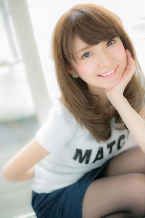 【Euphoria銀座】女子力高めの前髪&柔らかカラー