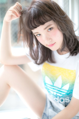【Euphoria】うぶバングの半ナマ質感ミディー 担当 渋谷