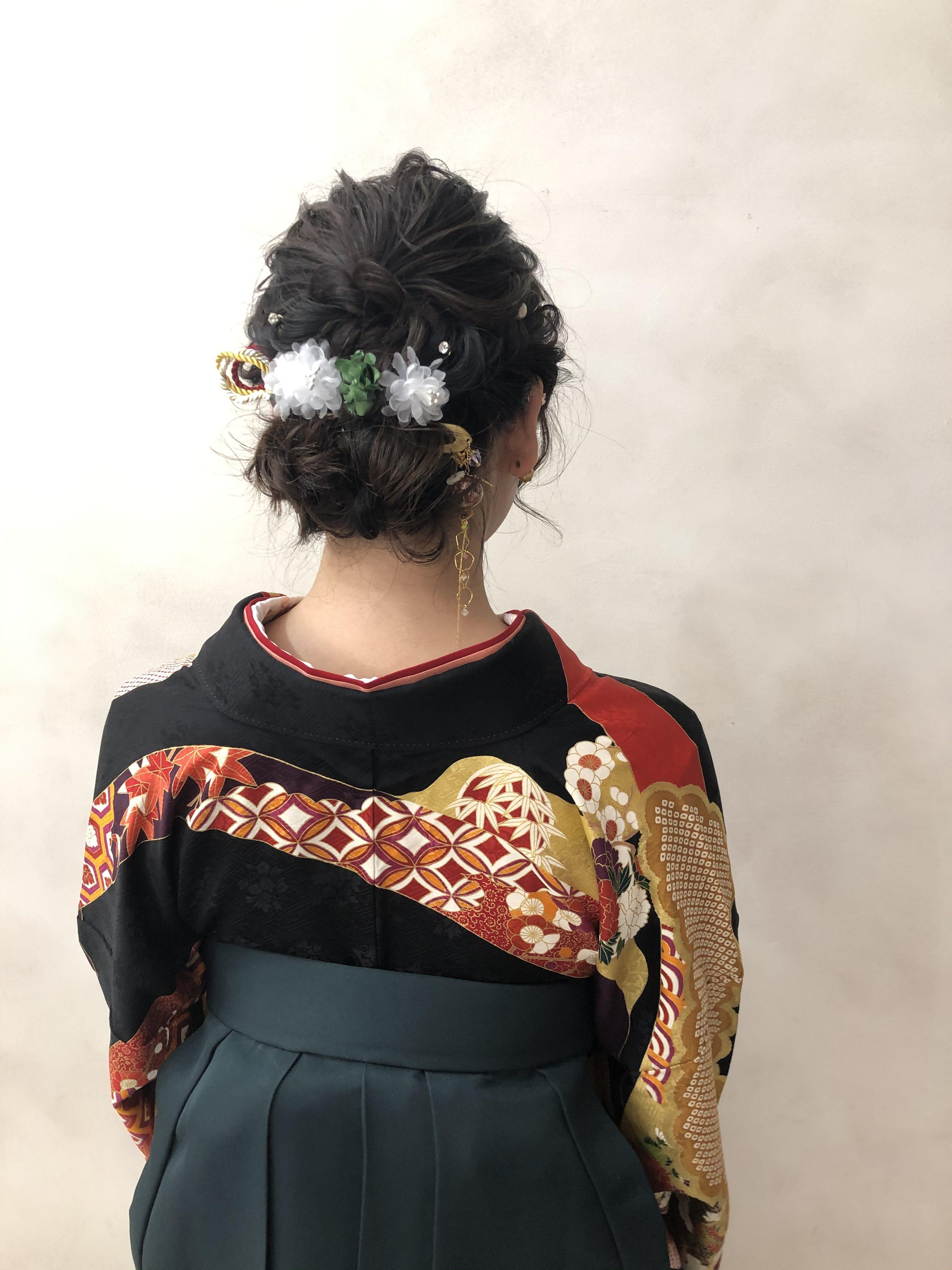 卒業式袴スタイル♪編み込みスタイル!