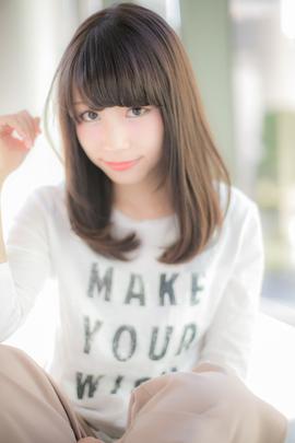【Euphoria】前髪がかわいいシルキーストレート
