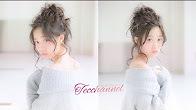 2アングル動画☆お部屋デートに☆くしゅくしゅお団子ヘアアレンジ
