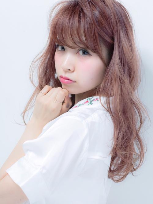 ハイ透明感ピンクパープルカラー♪おシャ甘セミディ☆