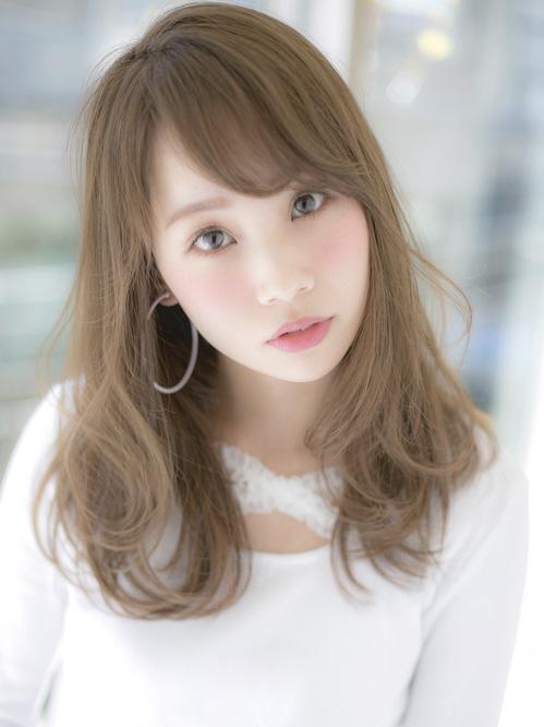ハイ透明感ミルクティーカラー×王道♪モテ柔ふわミディアム☆