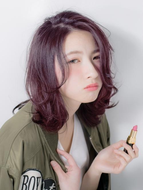 【Euphoria】ブリーチなしのムラサキカラー☆