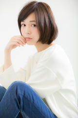 【Euphoria/三田淑絵】ナチュラル小顔ショートボブ