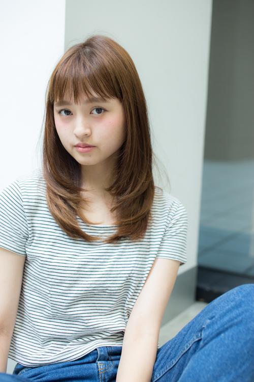 【Euphoria/三田淑絵】顔周りレイヤーのナチュラルストレート