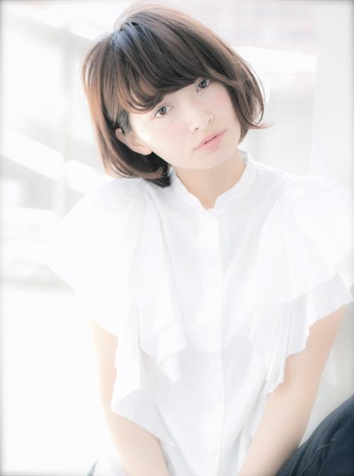【Euphoria】小顔になれる☆ひし形シルエットのショートボブ