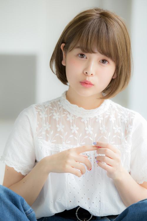 【Euphoria】大人可愛い☆小顔ショートボブ☆グレージュ