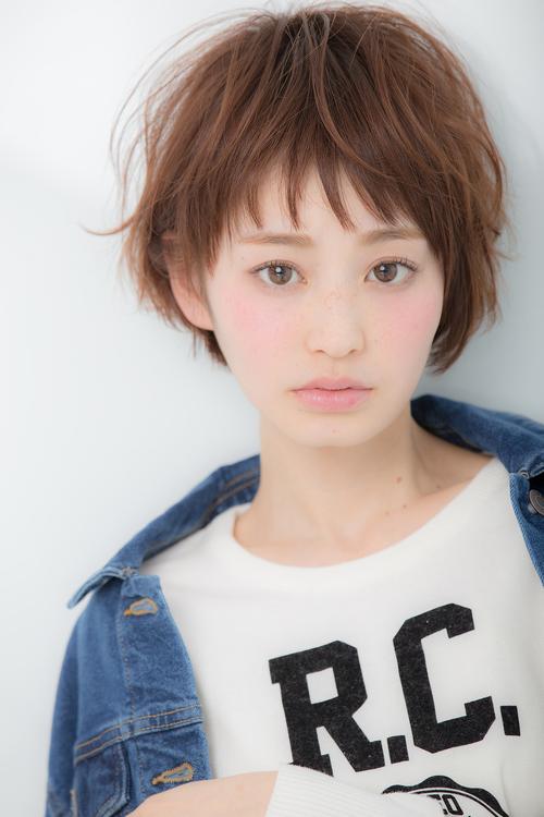 【Euphoria】☆ベビーバングの☆小顔ガーリー抜け感ショート