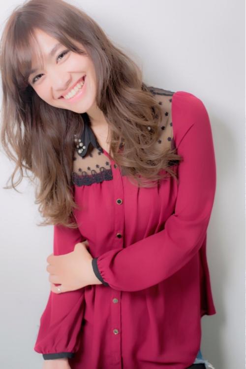 【Euphoria】ピンクラベージュで女子力UP☆ゆるふわセミロング☆小幡