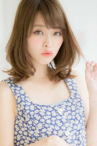 【Euphoria】ひし形シルエットが可愛い小顔ふわミディ☆【山村】
