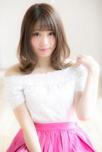 【Euphoria】ひし形シルエットが可愛い☆外ハネミディ【山村】