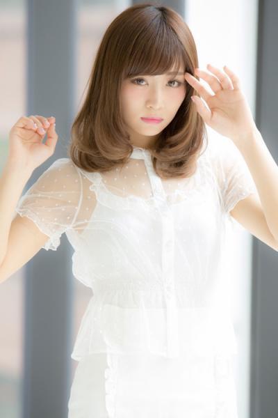 【Euphoria】デジタルパーマが可愛い小顔セミディ【山村】