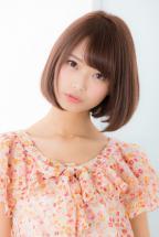 【Euphoria】ピンクベージュカラーが可愛い☆小顔ボブ【山村】