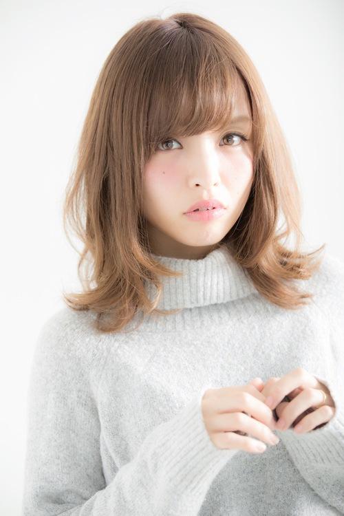 【Euphoria】 ひし形シルエットの小顔ふわミディ☆【山村】