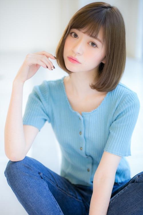 【Euphoria】ワンカールが可愛い☆切りっぱなしボブ【山村】