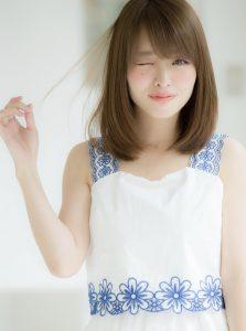 【Euphoria山村】大人可愛い柔らかストレートの小顔ロブ☆銀座