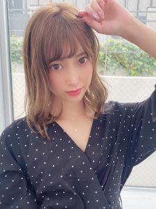 【Euphoria 銀座本店】シースルーバングカールミディ